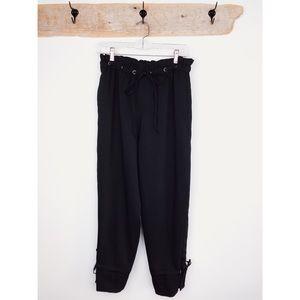 Club Monaco Black Cropped Culottes Trousers Pants